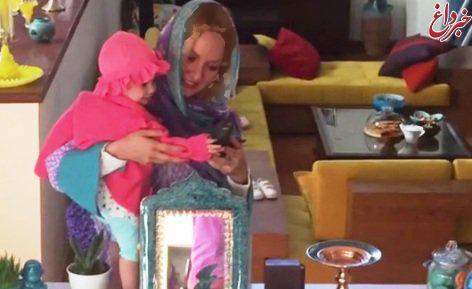 مهناز افشار و دخترش لیانا در کنار سفره هفت سین+تصاویر