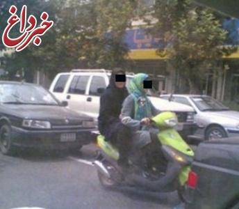 دستگیری 2 دختر موتور سوار در دزفول+تصویر