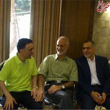 دیدار حسین فریدون و مصطفی معین با تاجزاده + عکس