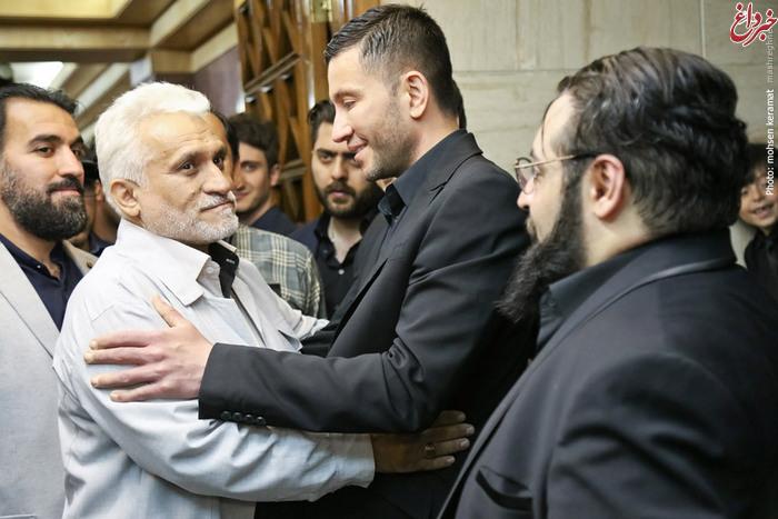 پدر مرتضی پاشایی در مراسم هفتم حبیب محبیان + تصاویر