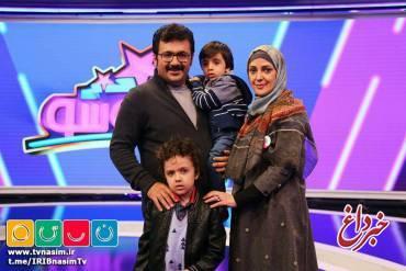 شهرام عبدلی به همراه خانواده اش مهمان کودک شو | عکس