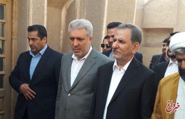 مونسان همراه معاون اول رئیسجمهوری در سفر به سیستان و بلوچستان