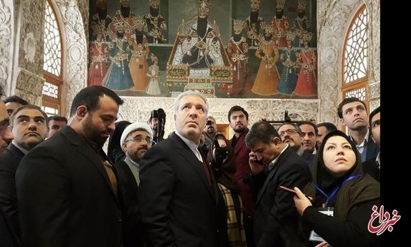 بازدید رئیس سازمان میراث فرهنگی از کاخ سلیمانیه در کرج
