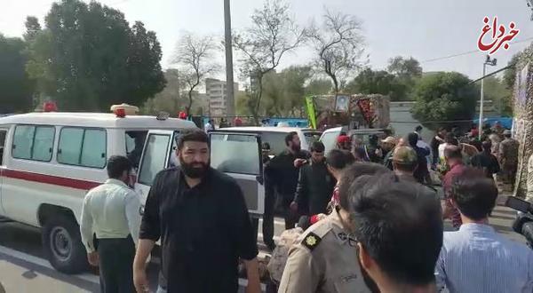 آمار مجروحان حادثه تروریستی اهواز به ۶۰ نفر رسید