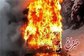 مکان غیرمجاز سوخت گاز خودرو در کرج آتش گرفت